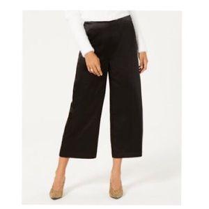 bar III Black Satin Wide Leg Pants
